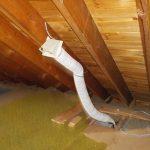 Bathroom venting into attic