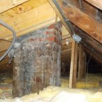 Chimney leakage in attic